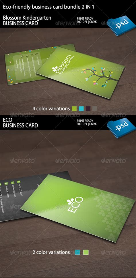 eco business card templates print template graphicriver eco friendly business card
