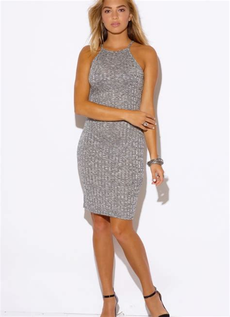 gray knit dress gray ribbed knit sweater dress by and spoiled