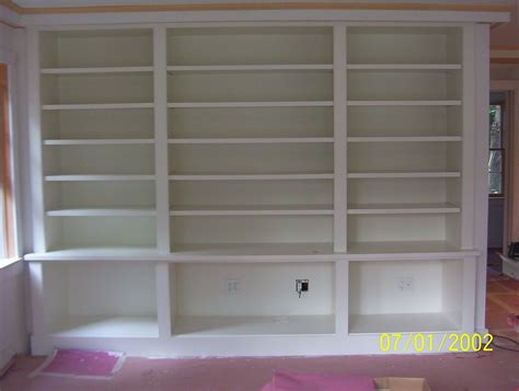 custom made painted built in bookcase by brenda wood