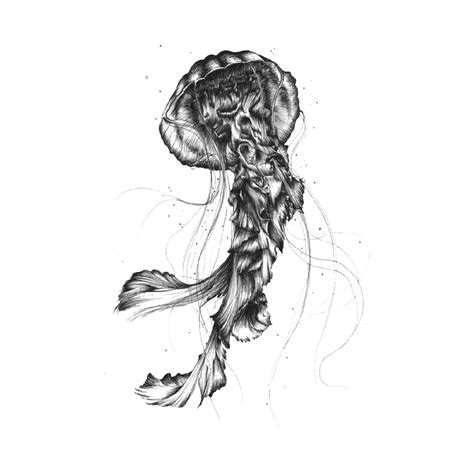 tattoo pen png jellyfish by camille levrier d licate distorsion