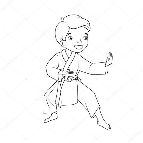 karate boy coloring page coloring book little boy wearing kimono practicing karate
