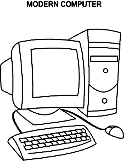 Woman Computers Coloring Pages Computer Coloring Page