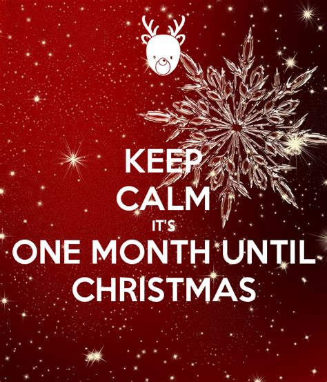 keep calm it s one month until christmas poster doogle25