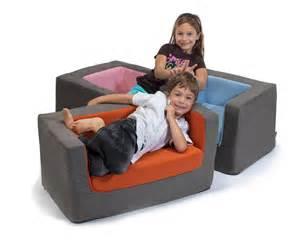 Blue Loveseat Modern Kids Cubino Chairs And Loveseats By Monte Design