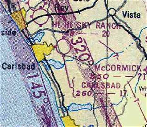 San Diego Sectional Chart by Abandoned Known Airfields California Northern