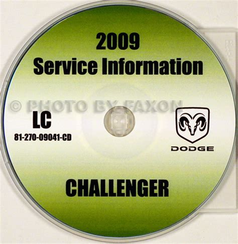 service manual 2009 dodge challenger workshop manual download dodge challenger repair manual