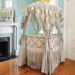 Round Bassinet With Canopy by Addison Floral Round Iron Canopy Crib In Choice Of Finish