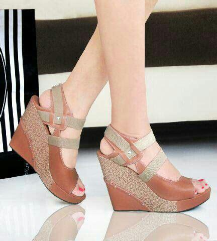 Promo Sepatu Wanita Wedges Aleah Putih sepatu wanita fashion harga miring quality