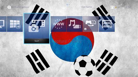 ps4 themes soccer uma bola de futebol com din 226 mica coreia do sul do tema da