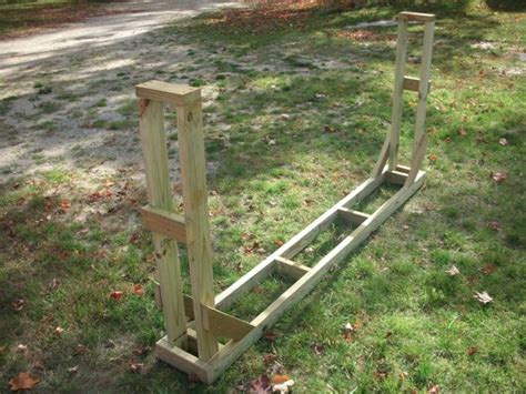 build firewood cutting rack use these free firewood rack plans to build your own