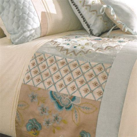 Patchwork Bed Linen - catherine lansfield border patchwork bed set in duck egg blue
