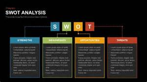 powerpoint swot analysis template swot analysis table powerpoint and keynote template