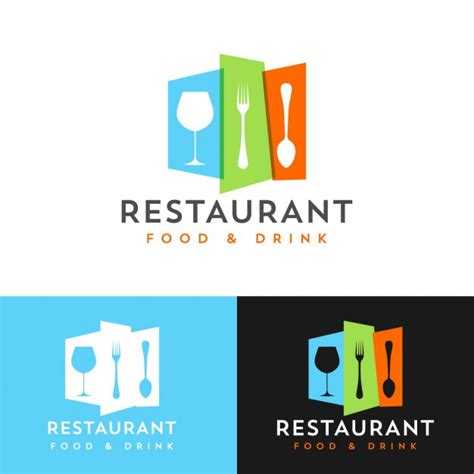design logo resto colorful restaurant logo design vector free download