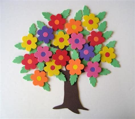 Foam Paper Crafts - color and creativity crafts made from foam paper