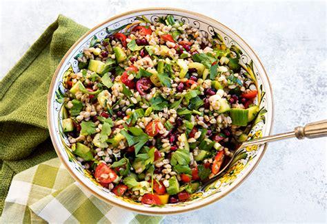 Detox Farro Salad Home Chef hearty detox farro salad italian food forever