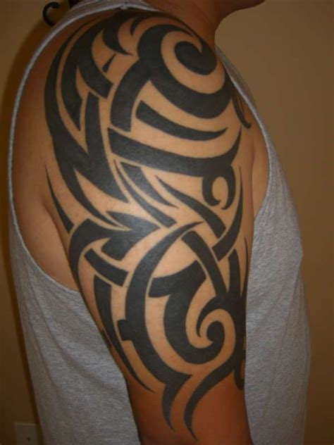 mens tribal tattoo sleeves half sleeve designs half sleeve tattoos for