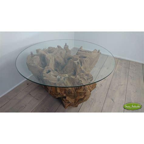 Houten Salontafel Rond by Teak Houten Salontafel 80cm Rond
