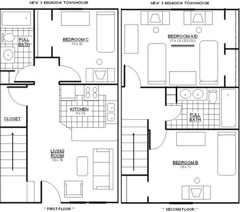 Best Bathroom Floor Plans by Best 3 Bedroom 2 Bathroom Floor Plans Best Bedroom Ideas
