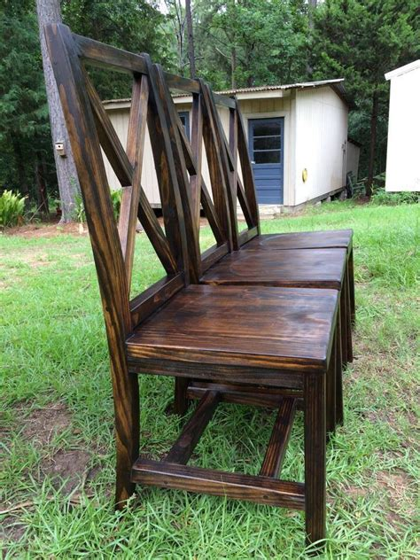 farmhouse chair plans handmade dining chairs with x back handmade furniture