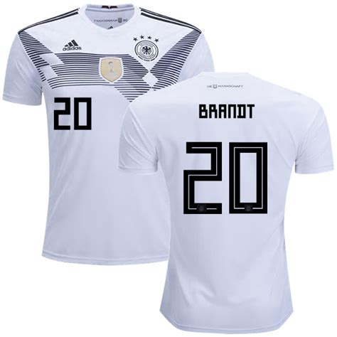 Jersey Germany Home New World Cup 2018 Grade Ori 20 germany julian brandt s jersey white home shirt 2018 world cup soccer adidas