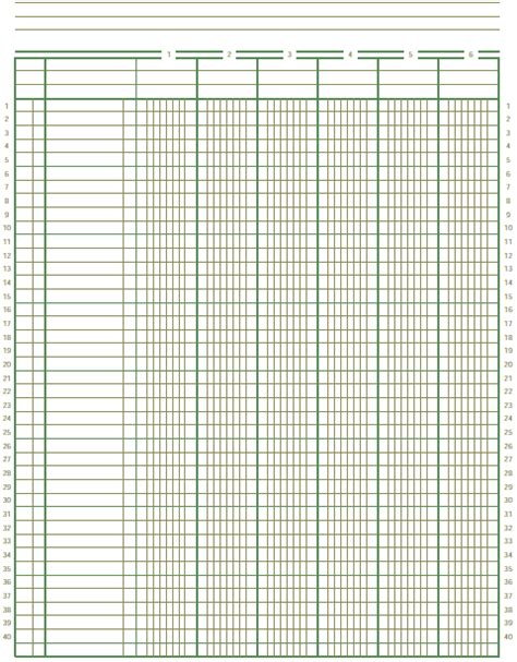 8 best images of printable ledger worksheet monthly