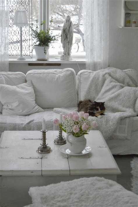 charming shabby chic living room decor ideas shelterness