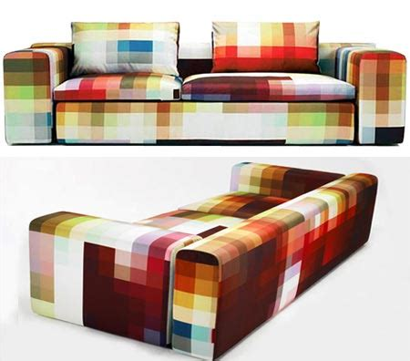 pixel sofa pixel sofa features big squares of color geekologie