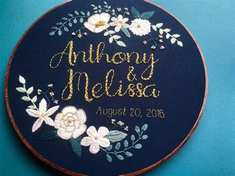 embroidery wedding custom personalized embroidery hoop wedding
