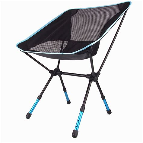 creative outdoor folding portable high chair high quality aluminium alloy mesh portable chair for