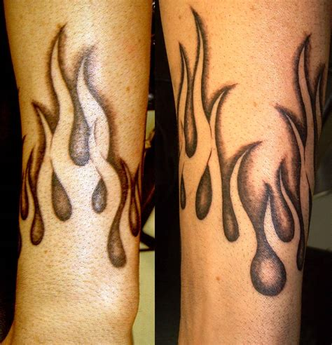simple fire tattoo designs cool flames on fingers