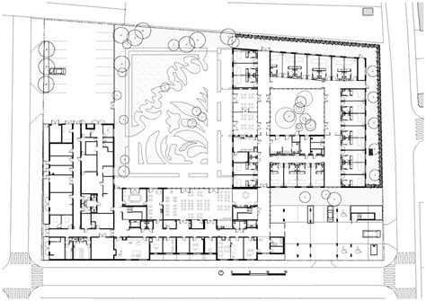 funeral home blueprints music search engine at search com monconseil retirement home in tours france by atelier z 252 ndel