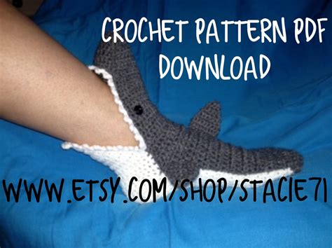 shark socks pattern download pattern for crocheted shark socks baby child and adult