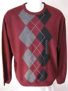 Connected Care Platinum Montana Health Co Op New Mens Argyle Sweater Xl Geoffrey Beene Classic