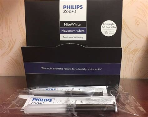 philips zoom  nitewhite whitening gel  syringes ebay