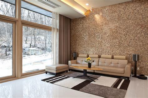 home interior materials wooden claddings provide walls with contemporary look