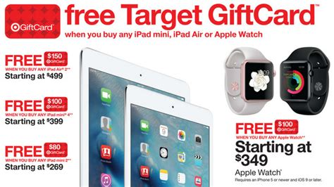 Gift Card Black Friday Deals - target to offer 100 gift card with apple watch this black friday