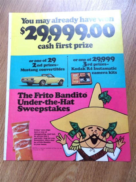Convertible Sweepstakes - frito bandito shop collectibles online daily