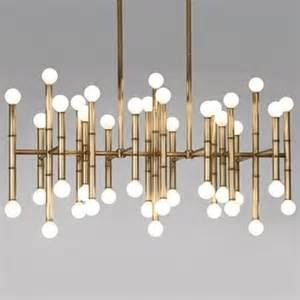 contemporary rectangular chandeliers meurice rectangular chandelier by jonathan adler lighting