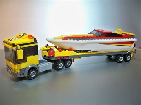 lego boat and trailer instructions lego city truck with boat and trailer set 4643 for sale in
