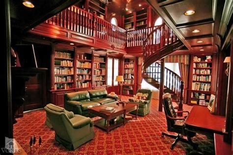 Story Picture Library two story library home library
