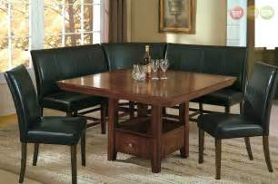 Dining Room Set Bench Salem 6 Pc Breakfast Nook Dining Room Set Table Corner Bench Seating 2