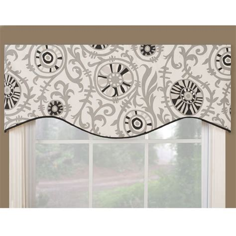 Black Kitchen Curtains And Valances Soho Black Modern Window Valance Soho Black 17 Inches X 52 Inches Wide All Cotton