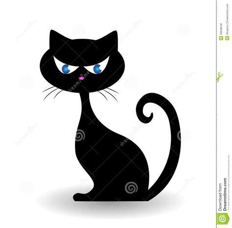 black cat painting designs cat logo royalty free stock photos image 33848248