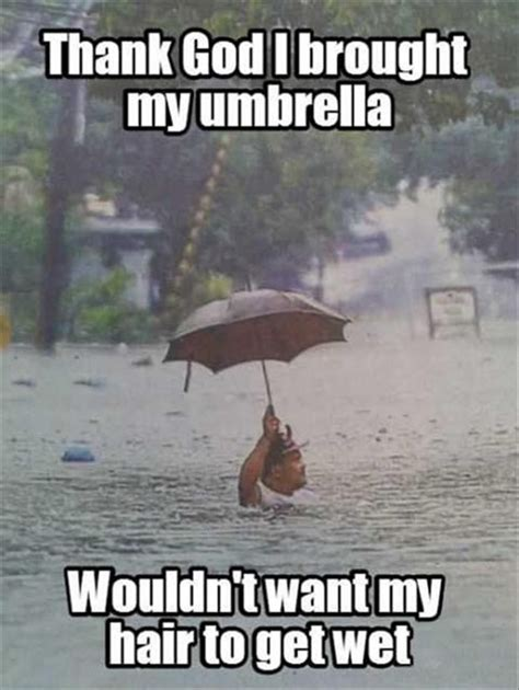 Funny Rain Memes - that lucky man