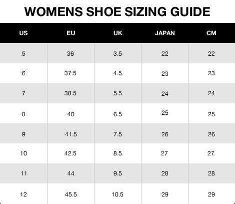 womens shoe size to shoes size chart shoes for yourstyles