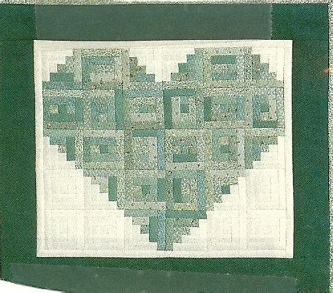 pattern for log cabin heart quilt log cabin heart quilting pinterest