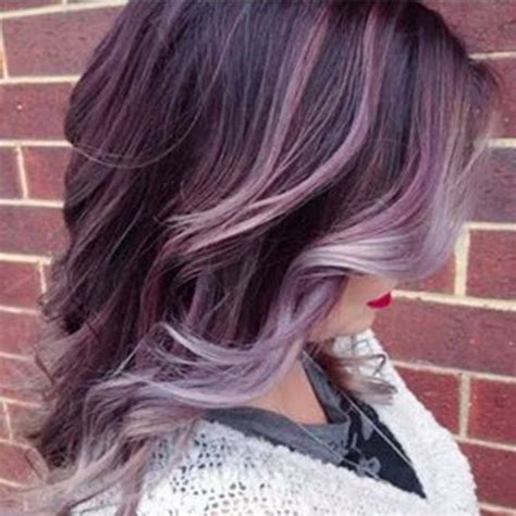 50 brilliant balayage hair color ideas thefashionspot gallery gray and purple hair color black hairstle picture
