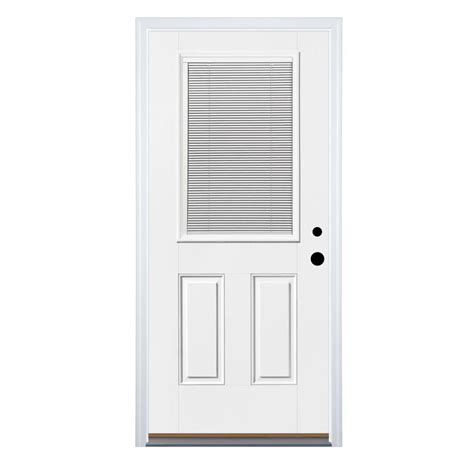 Half Lite Exterior Door Shop Therma Tru Benchmark Doors Half Lite Clear Prehung Inswing Fiberglass Entry Door Common