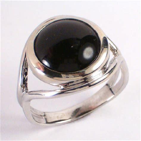 anzor jewelry 14k white gold black onyx ring