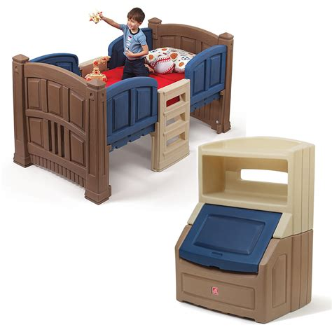 Step 2 Bunk Bed Loft Boy S Loft Storage Bedroom Set Step2